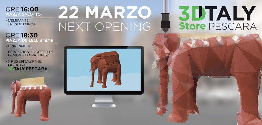 stampa 3d elefante michetti