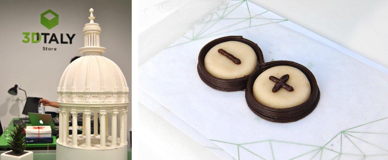 Cipola stampata in 3d - Logo arguino stampato 3d con la cioccolata